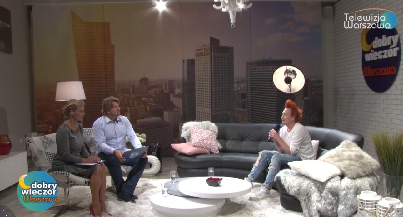 Alan Dąbrowski jako ekspert w TV Warszawa